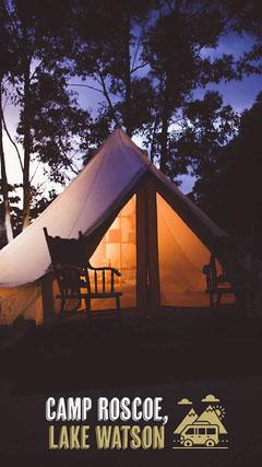 Camp Roscoe Lake Watson Camping Tent Snapchat Filter  Camping