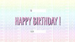 Rainbow Happy Birthday Gift Tag  Friends