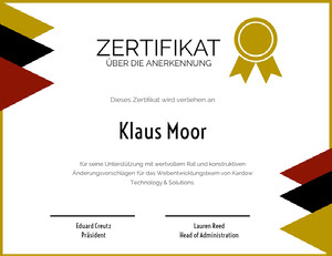 ZERTIFIKAT  Zertifikat