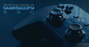 Dark Blue Twitch Banner with Game Controller Video Player Banner for Twitch