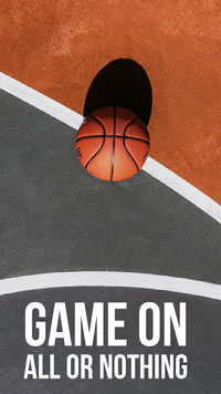 Brown White and Grey Game On Social Post Basketball