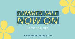 Yellow Flowers - Summer Sale Facebook Post
