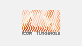 Orange Wave Pattern Icon Tutorials Youtube Channel Art Banner per YouTube