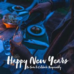 Dark Blue Happy New Years IG Square Celebration