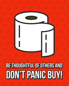 Toilet Roll Panic Instagram Square Red