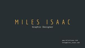 Miles Isaac Visitenkarte