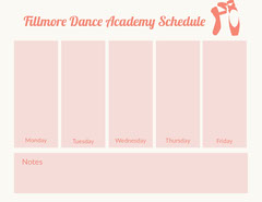 Fillmore Dance Academy  Schedule  College