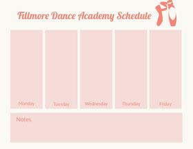 Fillmore Dance Academy  Schedule