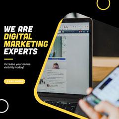 Black and Yellow, Digital Marketing Expert, Instagram Square Marketing