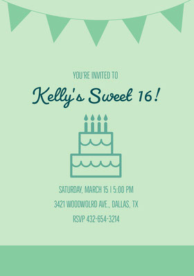 Kelly's Sweet 16! Invitation d'anniversaire