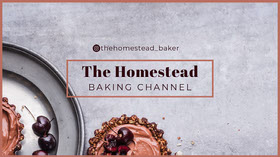 Grey Homestead Baking Youtube Channel Art Banner per YouTube