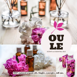 Aromatherapy Essential Oil Square Instagram Graphic Ad with Plant Logo image de profil