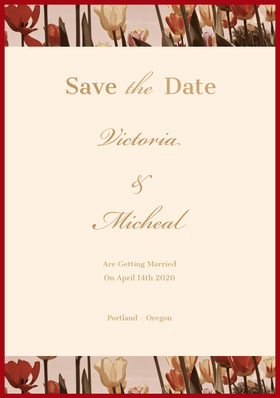 Victoria<BR> & <BR>Micheal  Save the date-kort