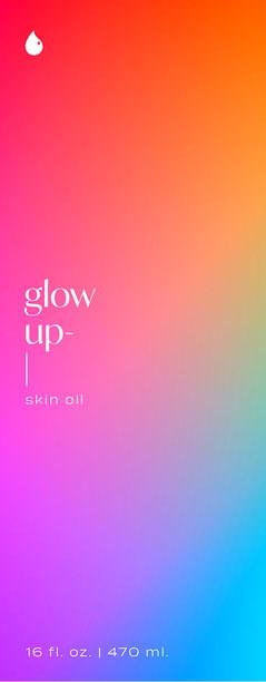 Rainbow Gradient, Skin Oil Packaging, Label Cosmetic