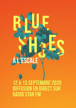 Orange Gradient and Blue Flowers Concert Poster A4 Prospectus