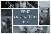 FELIZ ANIVERSÁRIO LEO! Colagem de fotos