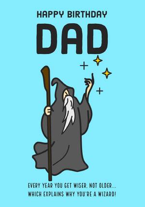 Wizard Birthday Card Card