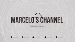 Grey and Black Marcelo's Channel Banner Grey