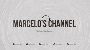 Grey and Black Marcelo's Channel Banner Banneri