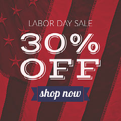 30% Off Labor Day Flyer