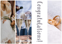 Wedding Congratulations Card with Collage Congratulations Messages
