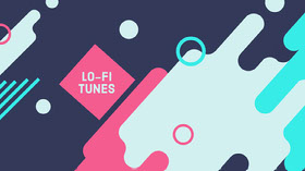 Multicolored Shapes Lo-Fi Music YouTube Channel Art YouTube-banneri