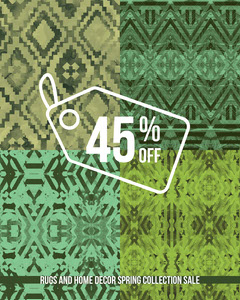 Green Rug and Home Decor Store Sale Instagram Portrait Ad House For Sale Flyer