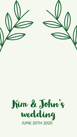 Light Toneg, Green adn White Wedding Announcement Instagram Story Wedding Announcement