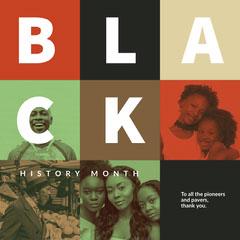 Dark Color Toned Black History Month Instagram Post History