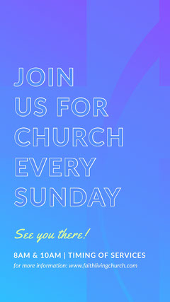 church ad Instagram story  Sunday