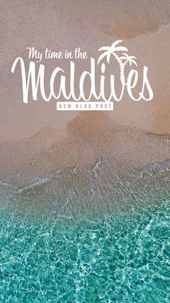 Beach Maldives Blog Post Instagram Story Ocean
