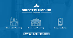 blue white plumbing service facebook Construction