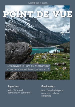 Grey Point of View Magazine Cover Couverture de magazine