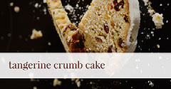 Black, White and Beige Tangerine Crumb Cake Facebook Banner Cakes