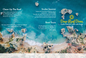 Blue Great Barrier Reef Brochure Brochure