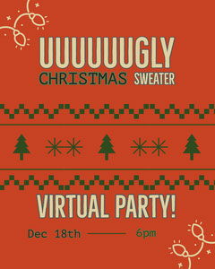 ugly sweater party Christmas Invitation