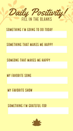 Yellow Positivity and Favorites Interactive Instagram Story Instagram Story