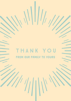 Blue and Orange Thank You Card Religion