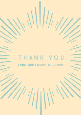 Blue and Orange Thank You Card Carte de remerciement
