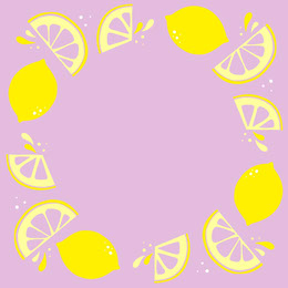 Purple and Yellow Lemon Frame Instagram Post Artists Collection: Adobe Spark Stylemakers