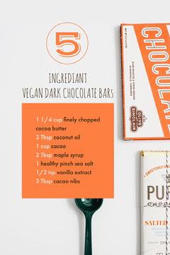 Orange and White Vegan Chocolate Pinterest Vegan