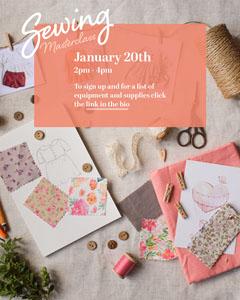 Pink Blush Sewing Masterclass Instagram Portrait Workshop