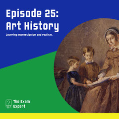 blue white green yellow art history school podcast square  Art Show
