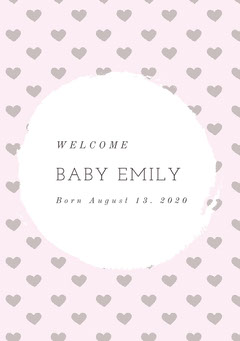 BABY EMILY Welcome Poster