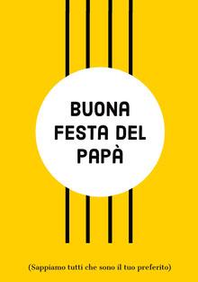 yellow Father's Day cards Biglietti elettronici per la festa del papà