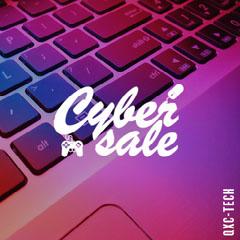 Gradient Laptop Cyber Sale IG Square Promotion