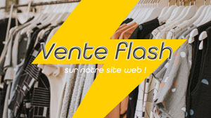 yellow flash sale - facebook cover page Produktfotos für Facebook-Shop