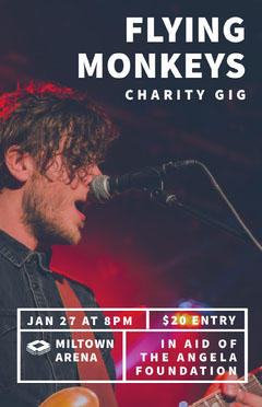 Charity Concert Poster with Singer Photo Fundraiser