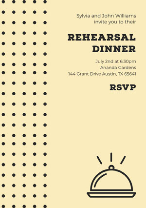 REHEARSAL DINNER  Rehearsal Invitation