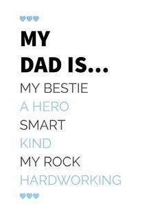 Blue Typography Fathers Day Cad Isänpäiväkortti